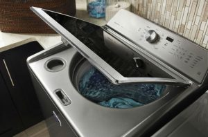Image of an open washer