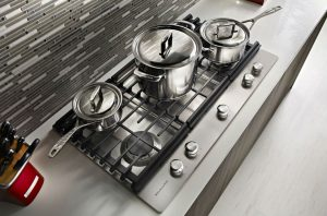 Image of pots on a stove