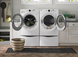 Image of an open washer and dryer