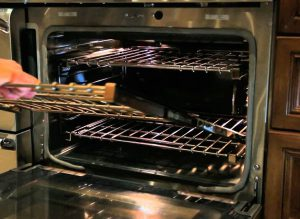Image of an open oven