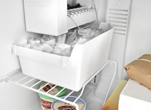 Image of a box of ice inside a freezer