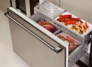 Image of an open freezer