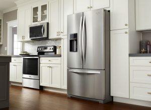 Close up image of a refrigerator