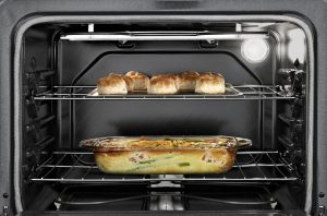 Close up image of an oven