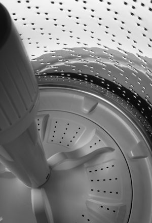 Close up image of a washer